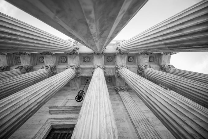 Columns at the U.S. Supreme Court building